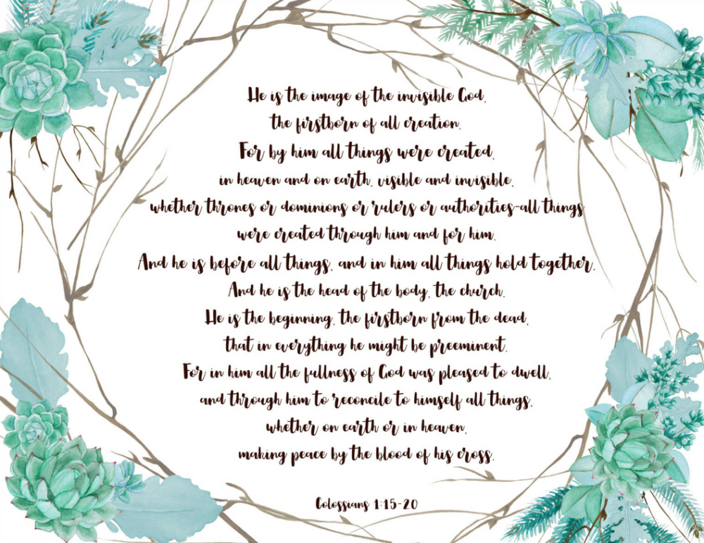 Colossians 1- 15-20 Prinatable