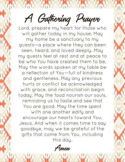 A Gathering Prayer (1)